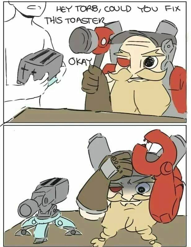I wonder if Torbjorn can make me a toaster like that