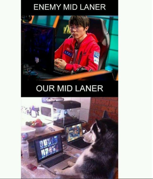 enemy mid laner vs our mid laner