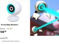 I got this ad for baby monitors.