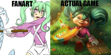 fanart vs actual game