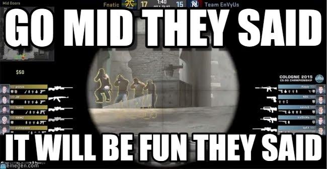 go mid they said