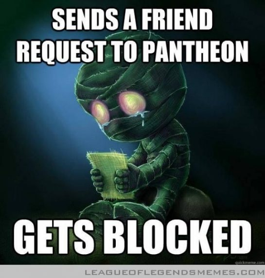 sends a friend request to pantheon