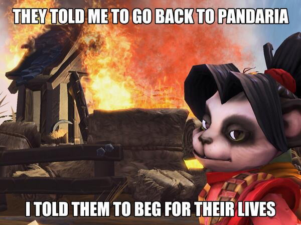 They told me to go back to Pandaria