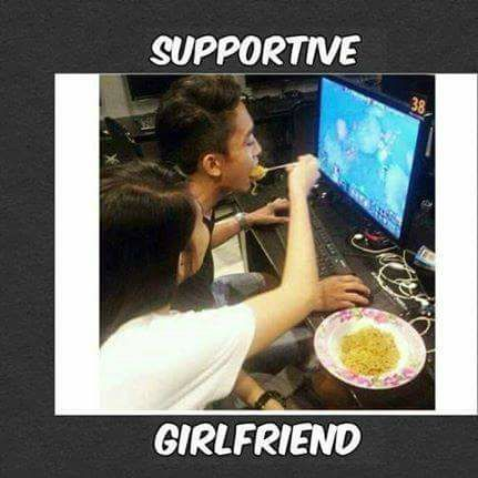 supportive girlfriend