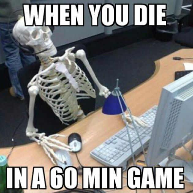 when you die in a 60 min game