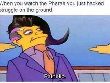 when you watch the Pharah you just hacked struggle on the ground