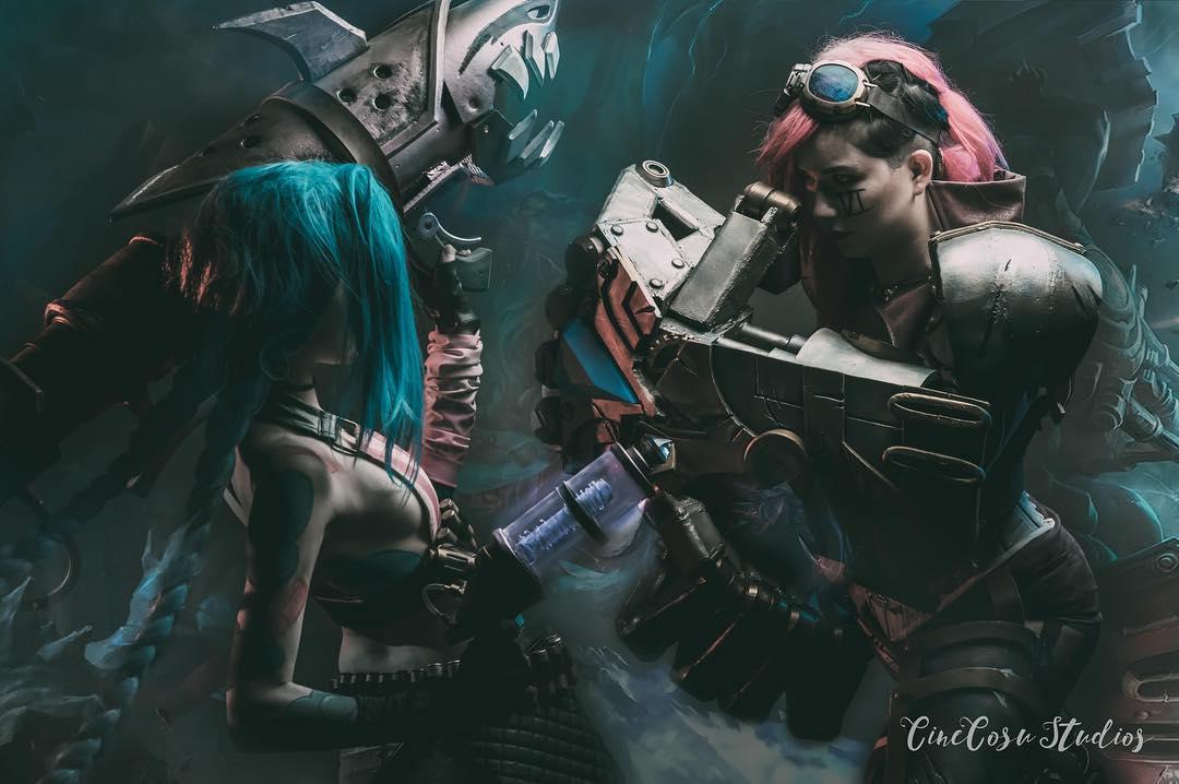 vii vs jinx league of legends cosplay