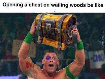 opening a chest on wailing woods be like